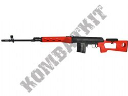Bison 701 SVD Airsoft Sniper Rifle BB Gun 2 Tone Black Orange 440fps